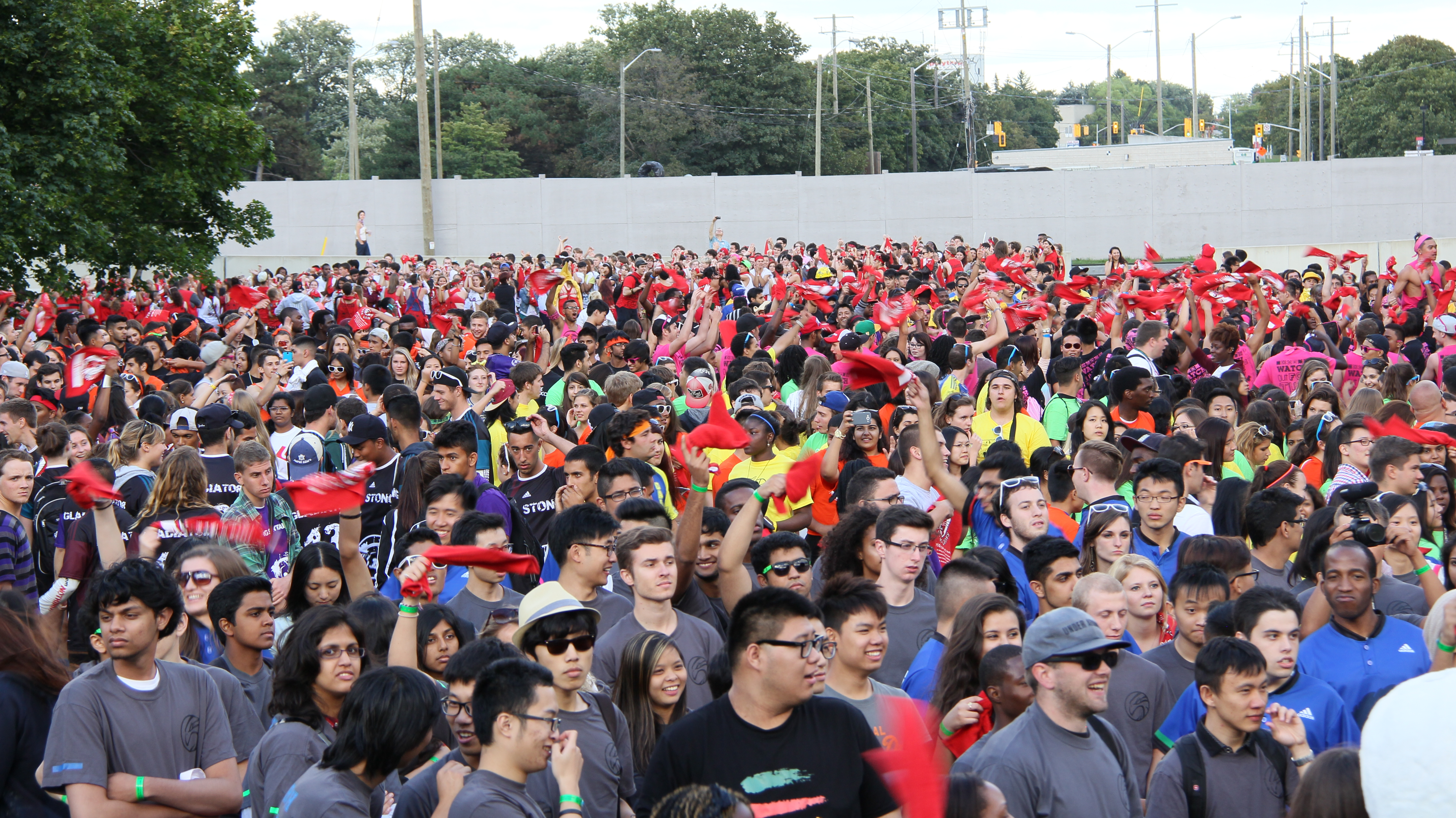 Look at all those colourful O-Week Tees!