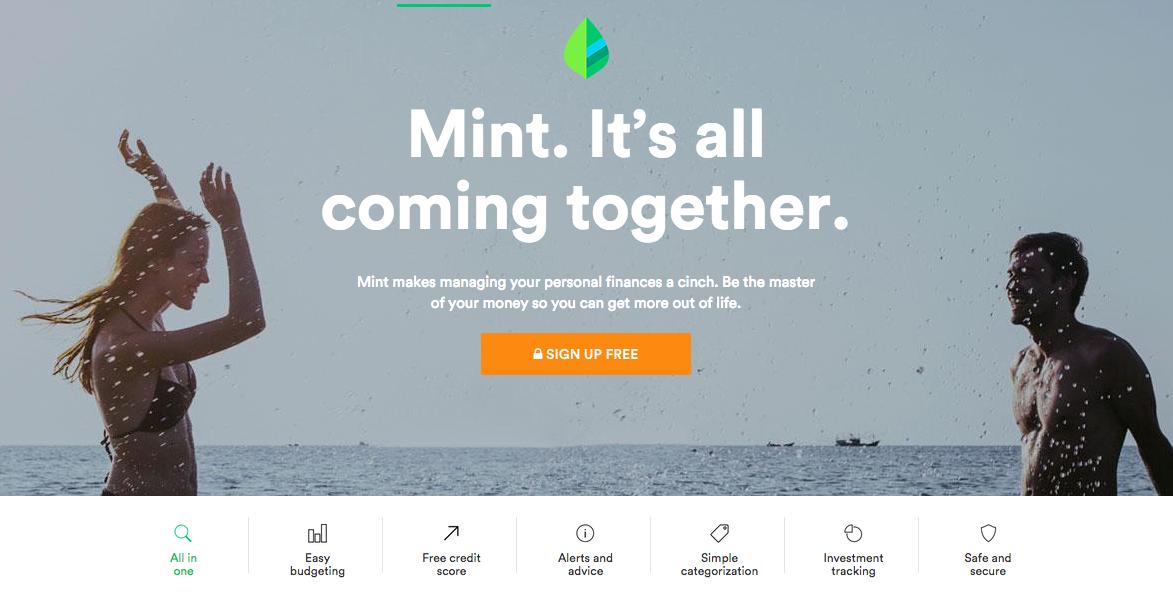 Intuit Mint Website